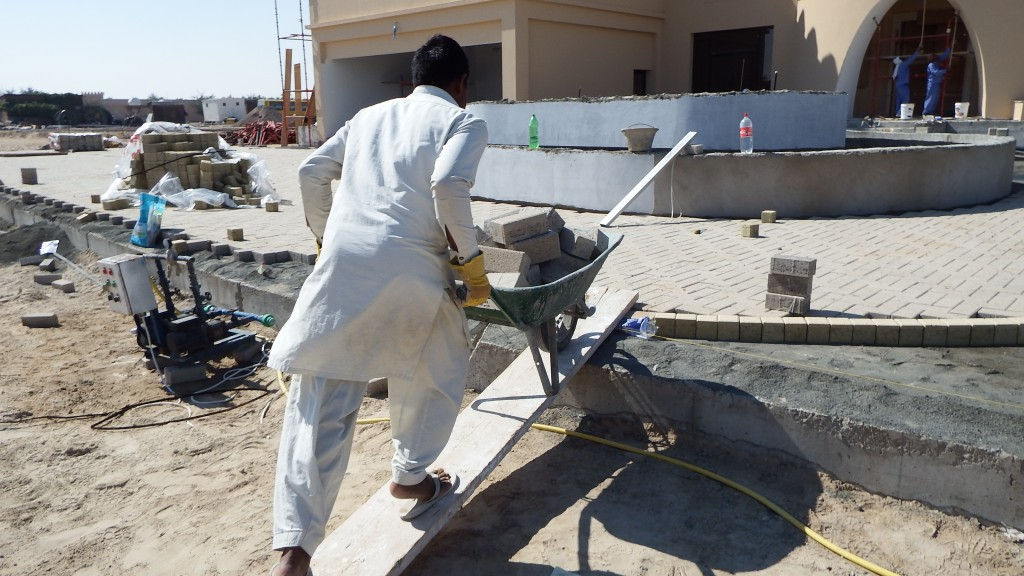 Progress on site at Farm Villa, Al Rahba, Abu Dhabi